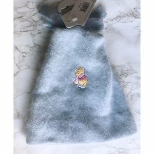 Disney winnie the pooh embroided blue bennie